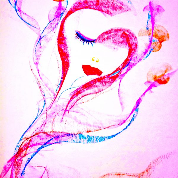 FreeFlowPink melania adony artdeco printdecoart